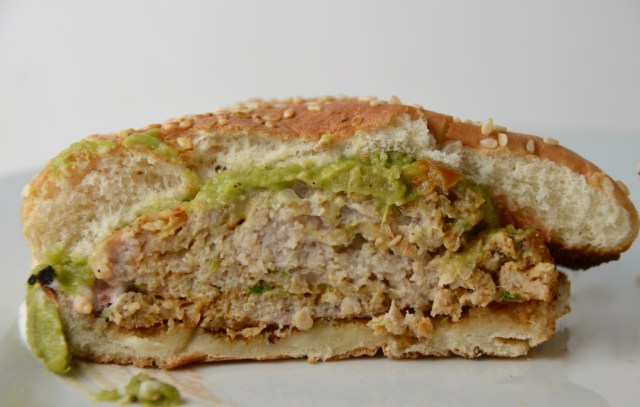 Cheddar Jalapeño Chicken Burgers With Guacamole