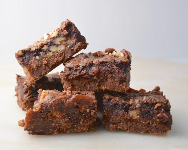 Caramel Graham Fudge Brownies