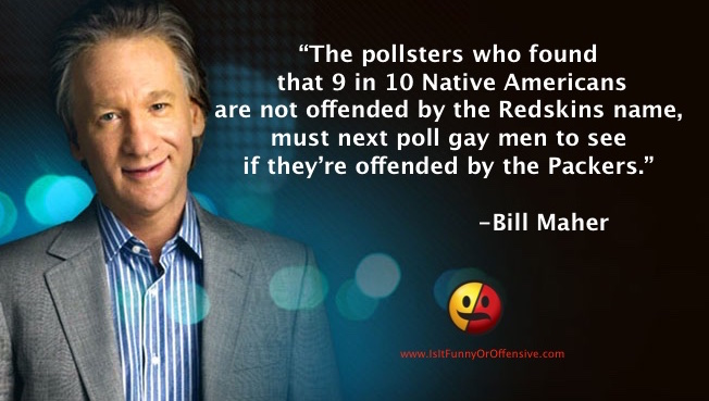Bill Maher on The Washington Redskins