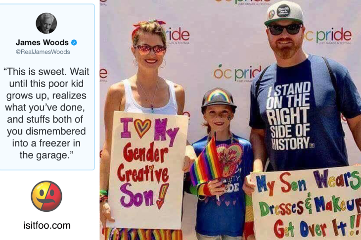 James Woods Predicts Dismemberment For Parents Who Support Son At Pride