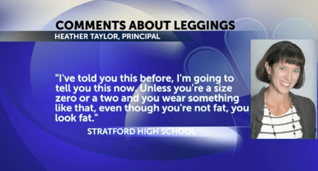 Principal Tells Students Not To Wear Leggings Unless A Size 0 Or 2