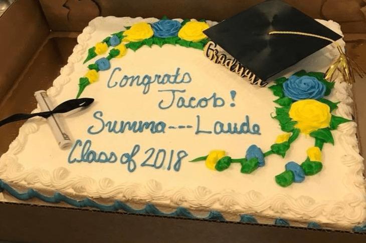 "Grocery Store Censors ""Summa Cum Laude"" Graduation Cake"