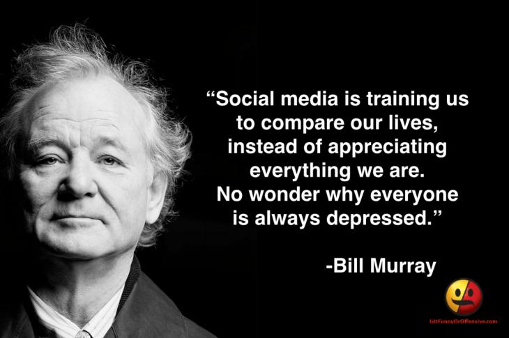 Bill Murray on Social Media