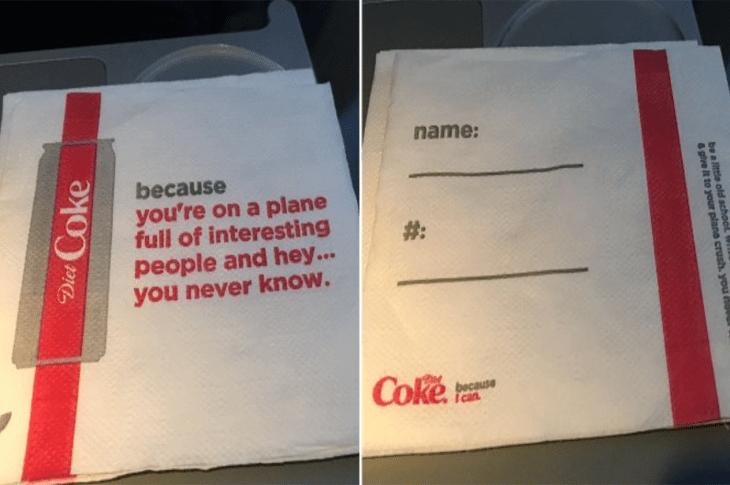 """Delta and Coca-Cola Apologize For Creepy """"Plane Crush"""" Napkins"""