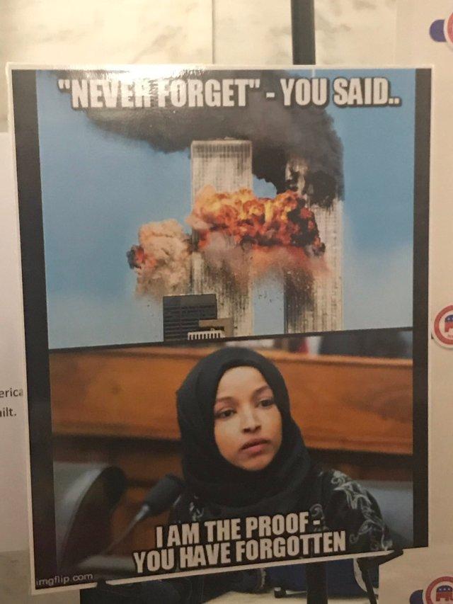 Anti-Muslim Poster Tying Omar To 9/11 Displayed At West Virginia GOP Event