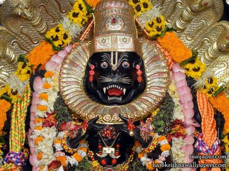 Appearance of Narasimha in Mayapur   ISKCON Bangalore