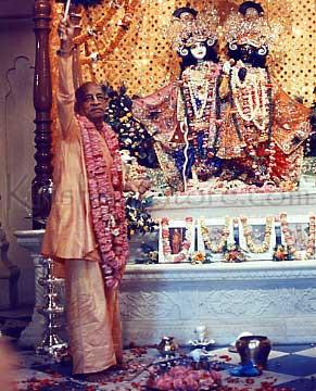 Srila Prabhupada in Krishna Balarama Temple