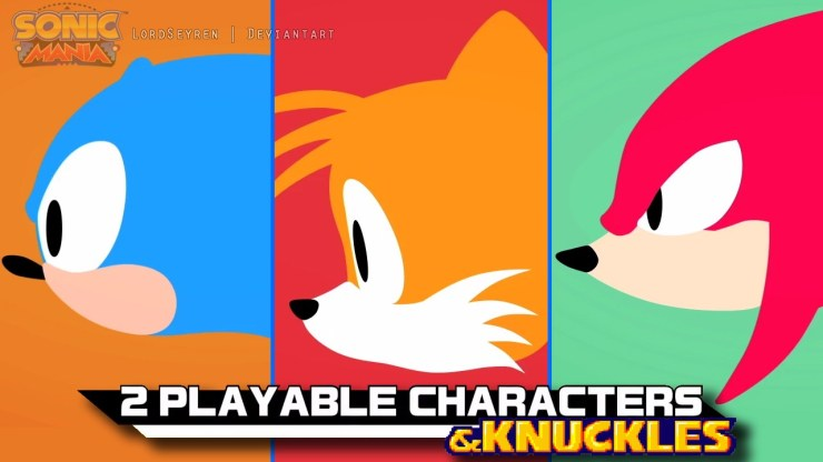 Sonic Mania personajes jugables
