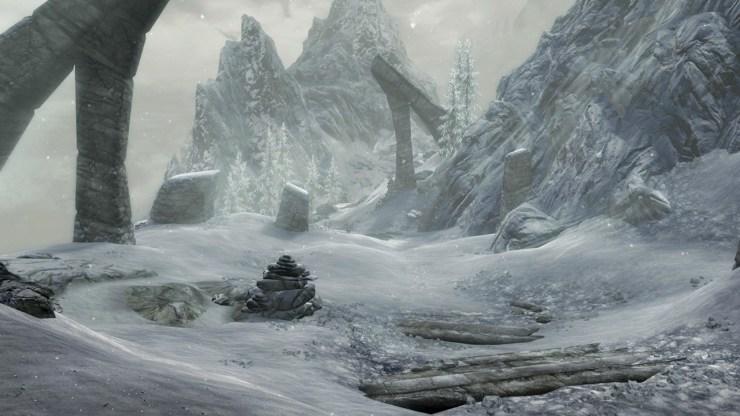 Las montañas heladas de Skyrim están llenas de misterios