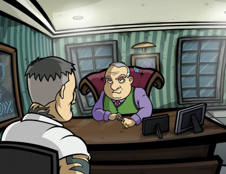 Harry Sullivan hablando con Warren