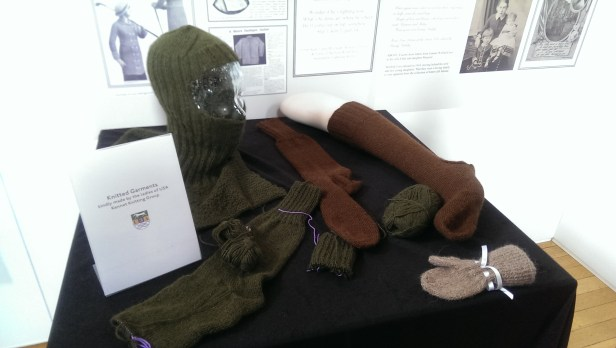 Replica items knitted for the troops