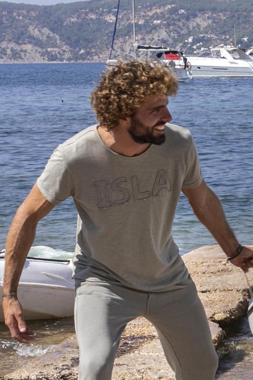 Woven Isla Print Men's T-Shirt Olive - Green