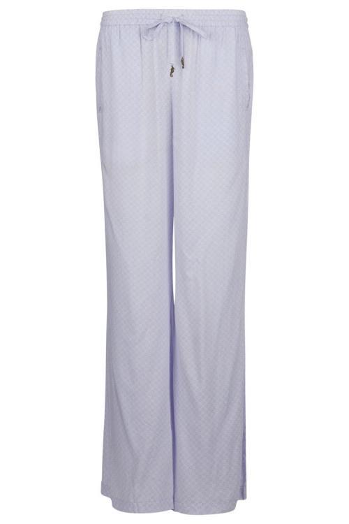 Flair Pants Ton Sur Ton Flower Printed Lila - Purple