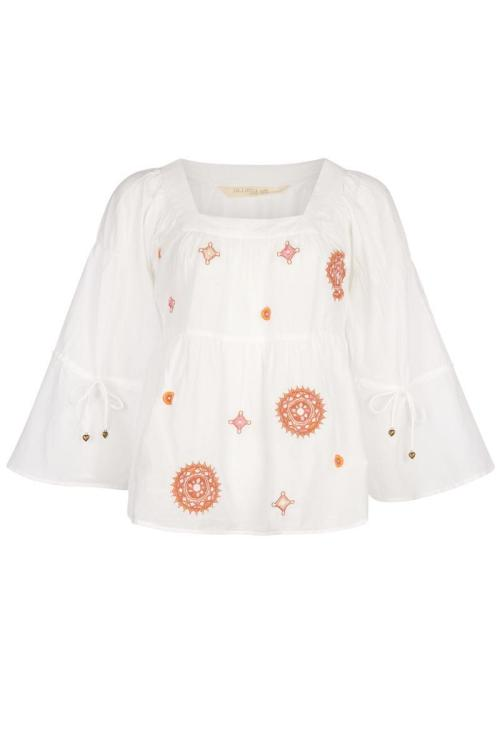 Blouse Embroidery - White