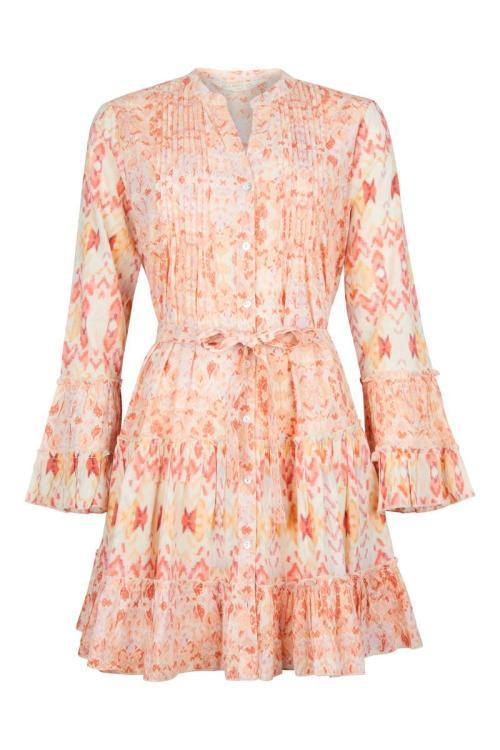 Short Dress Kilim Pastel - Cream