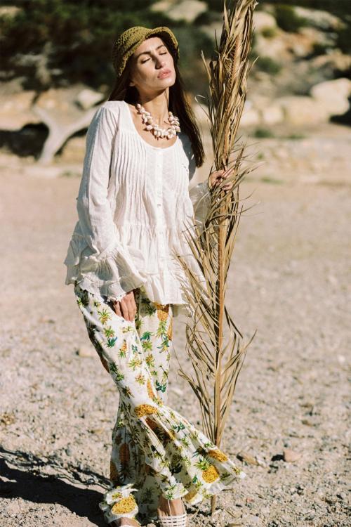 Flair Pants Pineapple - White