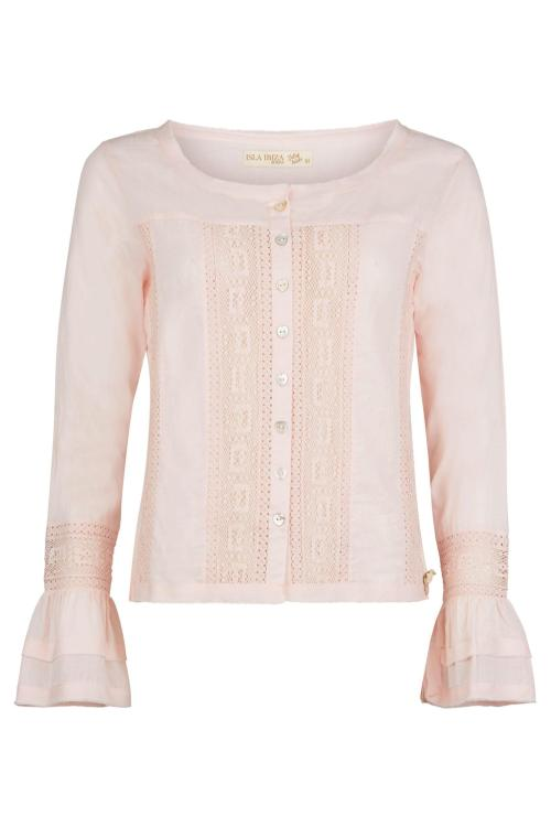 Laced Blouse Aiyanna - Pink
