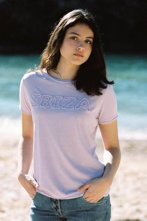 Short Sleeve T-Shirt Eivissa - Purple