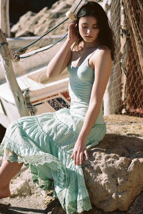 Sleeveless Long Dress Es Cubells - Green
