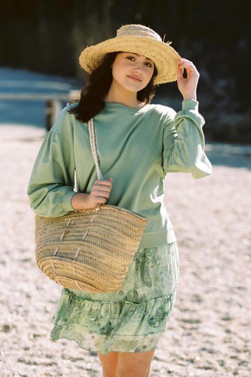 Bohemian Short Skirt Mermaid - Green