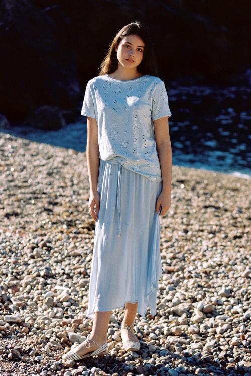 Long Skirt Salada - Blue