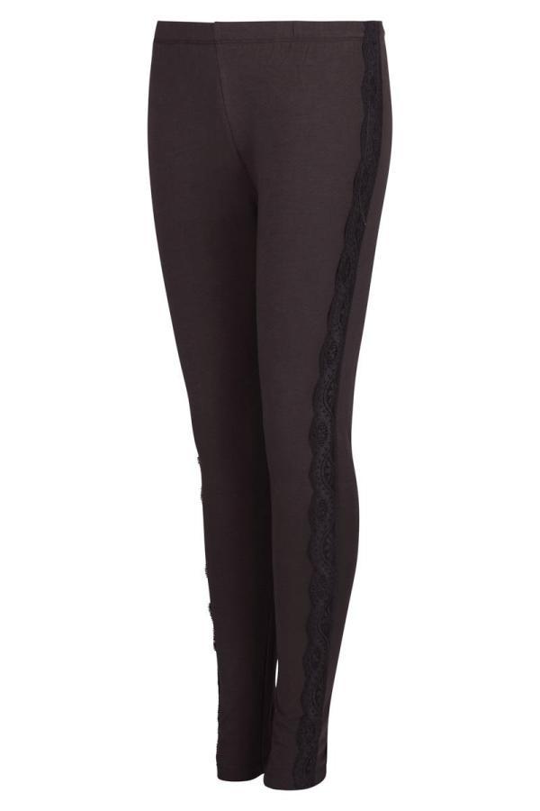 Basic Legging Embroidered Band – Grey