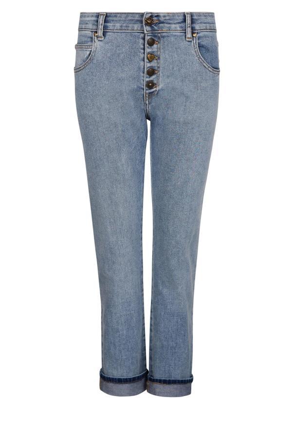5-pocket Straight Jeans – Blue