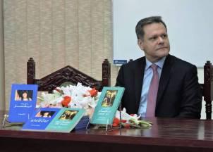 Ambassador of Brazil H.E. Alfredo Leoni at Book launching Ceremony at National Library of Pakistan.