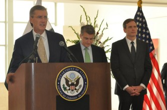 Ambassador Richard Olson inaugurates new U.S. Embassy building in Islamabad, Pakistan