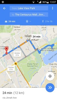 Google Maps In Pakistan Now Display Real Time Traffic Data