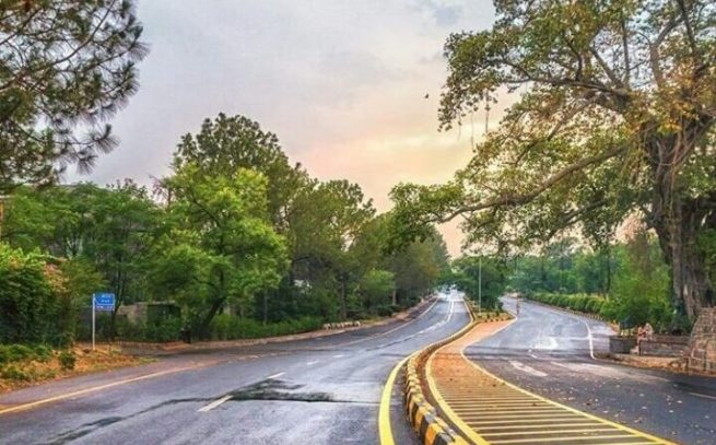 Margalla Road in Islamabad