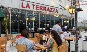 People waiting for Iftar time at La Terrazza Islamabad