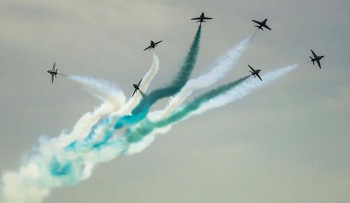 Saudi Hawks of Royal Saudi Air Force at Pakistan's 70th Independence Day air show