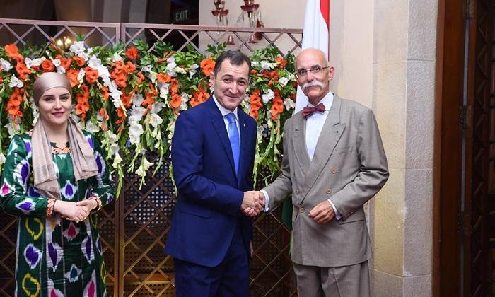Tajikistan Ambassador H.E. Sherali Jononov with EU Ambassador to Pakistan H.E. Mr Jean-François Cautain in Islamabad