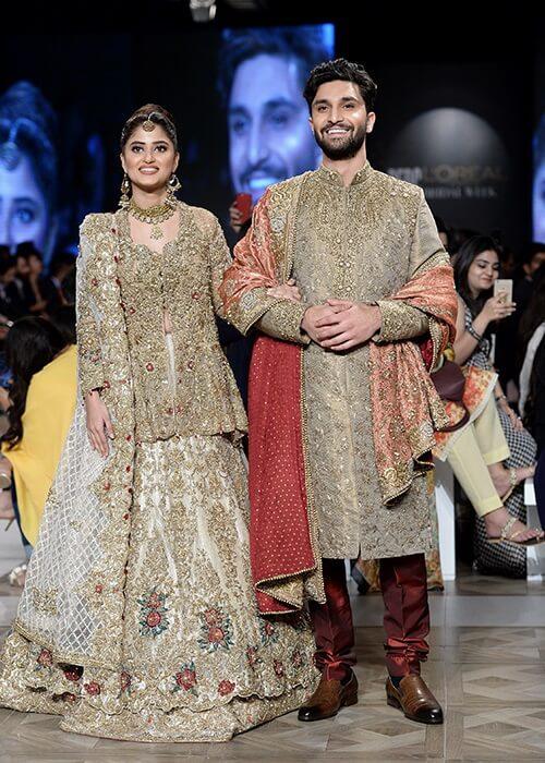 Sajal Ali and Ahad Raza Mir for Nickie Nina