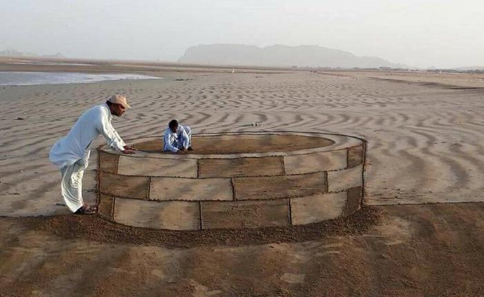 Pakistan sand art1