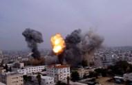 Gaza Under Attack :: November 21 2012 :: warplanes-bombed-the-area-around-yarmouk-stadium-in-gaza