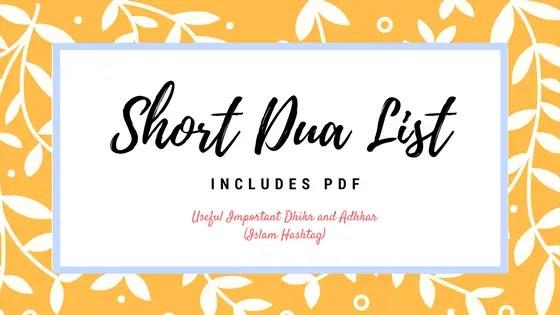 20 Short Dua to read everyday