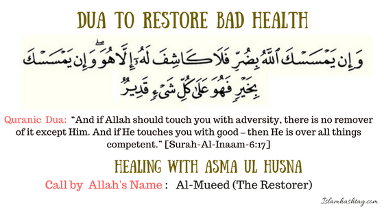 Healing with Quranic dua and dhikr of Allah's name