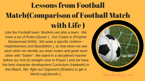 lessons from football match-mufti menk