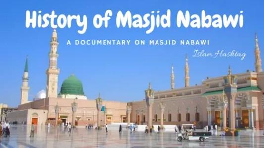 history of masjid Nabawi