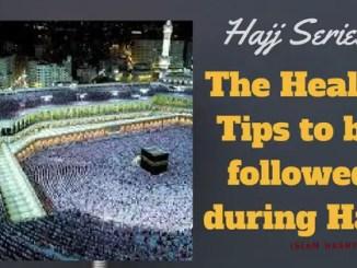 Hajj Health Tips