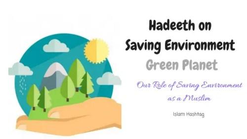 hadeeth on saving environment