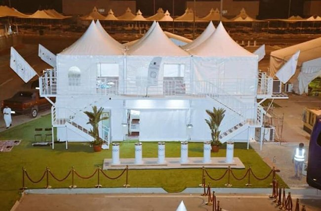 In Pictures : Beautiful Multi-story Hajj tents to be established in Mina - Hajj2019 - Islam Hashtag
