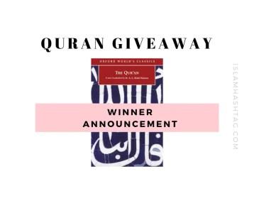 Quran giveaway
