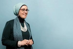 first Muslim woman to read quran in Us presedential