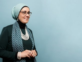 first Muslim woman to read quran in Us presedential