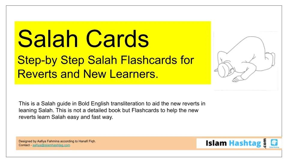 Salah Flashcards to Learn Salah