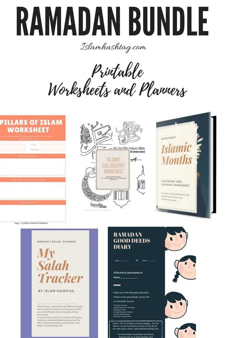Ramadan Bundle Worksheet And Planner For Kids Islam Hashtag