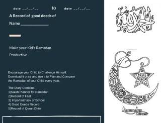 Ramadan planner kids